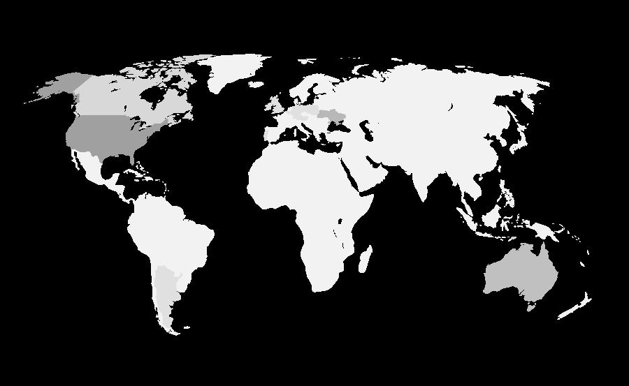 Де у світі є Лісові Чорти (мапа)